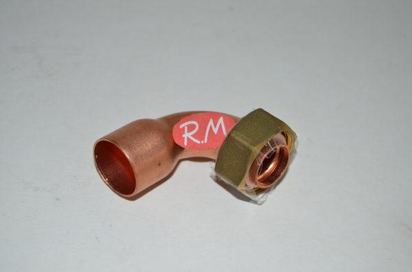 Racor dos piezas curvo H 3/4 Ø 22 mm