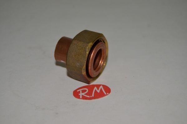 Racor dos piezas recto H 3/4 Ø 15 mm boca plana
