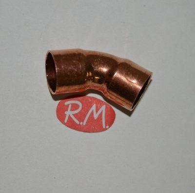 Curva 45° de cobre soldar H-H Ø 28 mm