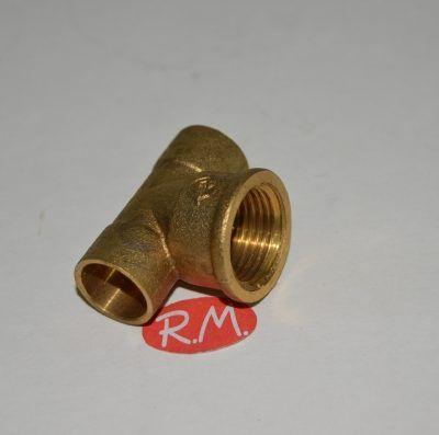 Te latón rosca H-1/2 soldar 22 mm
