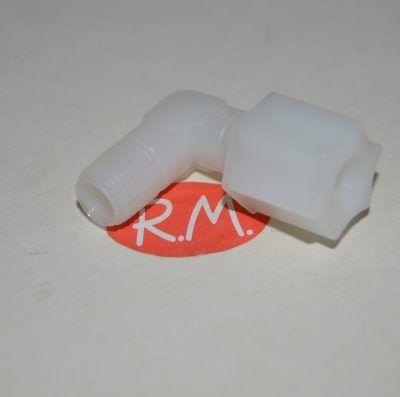 Osmosis codo 1/4 con tuerca a M 1/8