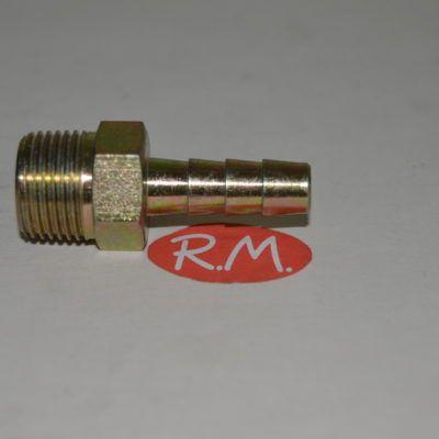 Neumática boquilla espiga macho 3/8 gas manguera 8 mm