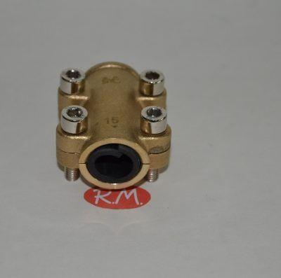Abrazadera tapaporos para tubo de cobre de 15 mm