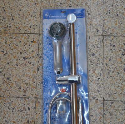 Conjunto barra ducha deslizante con flexo y mango