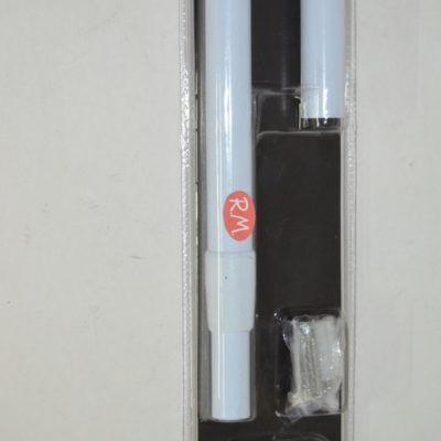 Barra cortina de ducha blanca extensible curva 80 /180 cm
