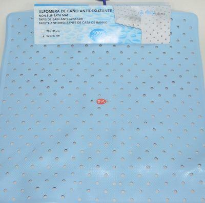 Alfombra baño azul 53 x 53 cm