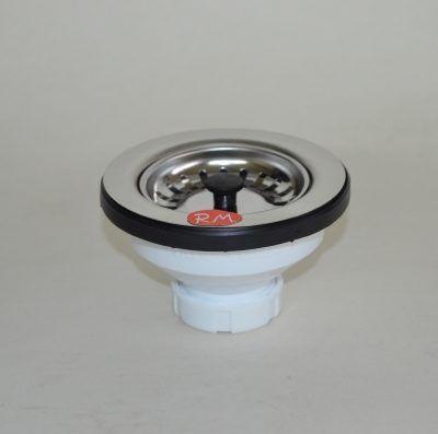 """Válvula de cesta Inox para fregadero 1"""" 1/2 113 mm"""