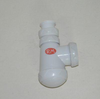 Sifón botella corto horizontal de lavabo - bidé sin válvula