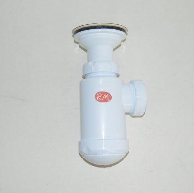 """Sifón 1"""" 1/2 horizontal de lavabo - bidé con válvula S-83"""