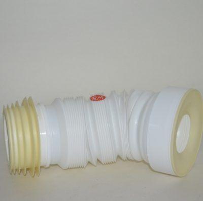 Manguito flexible extensible para WC 230 a 550 mm