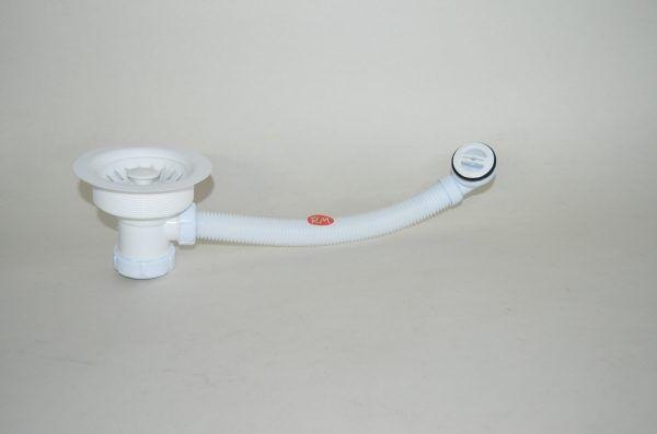 Válvula de cesta blanca fregadero 115 mm con rebosadero