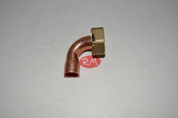 Racor dos piezas recto H 1/2 Ø 12 mm boca plana