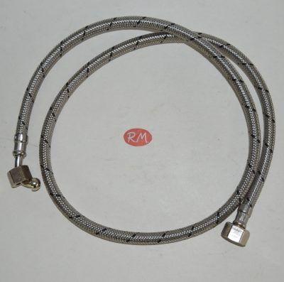 Latiguillo quemador caldera gasoil H 3/8 180° H 1/4 90° 100 cm