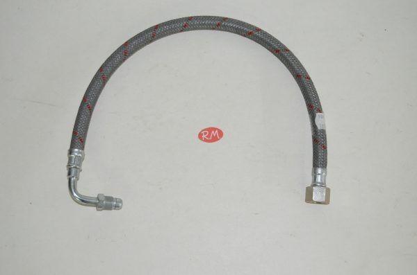 Latiguillo quemador caldera gasoil H 3/8 180° M 1/4 90° 50cm