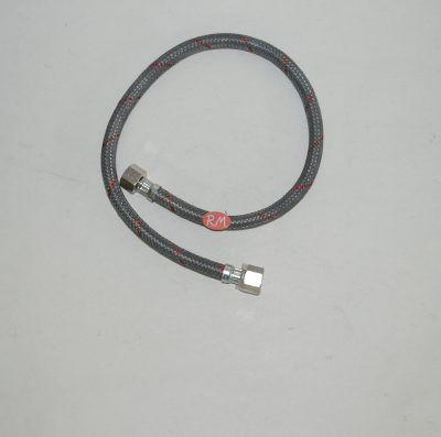 Latiguillo quemador caldera gasoil H 3/8 H 3/8 180° 70cm