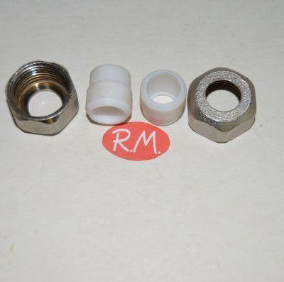 Tuercas y ovalillos llave monotubo 1/2 15 mm