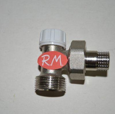 Detentor escuadra radiador roscar M 3/8 M 3/4