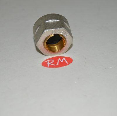 Racor válvula conexión tubo cobre de 15