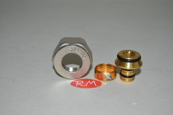 Racor válvula conexión tubo multicapa de 16
