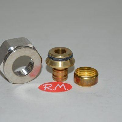 Racor válvula conexión tubo reticulado de 16