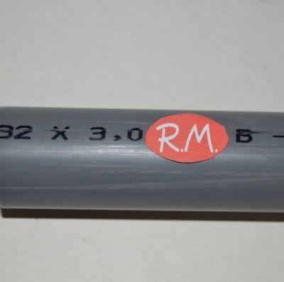 Tubo evacuación PVC rígido Ø32 mm a metros