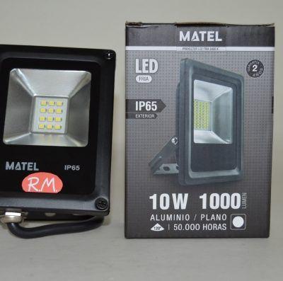 Foco proyector led 10w 6400K 1000 lumen negro