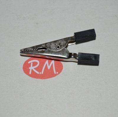 Pinza de cocodrilo negra 4,2 cm