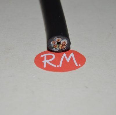 Cable manguera negra 5 x 1,5 mm