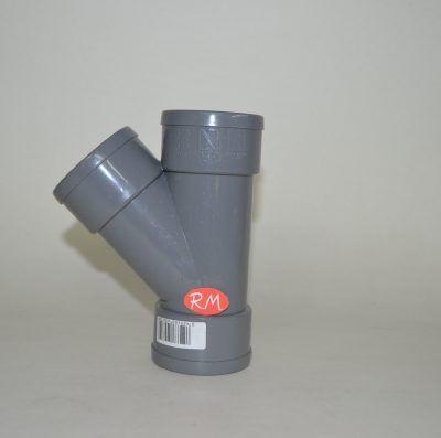 Te 45° PVC Ø50 mm H H H
