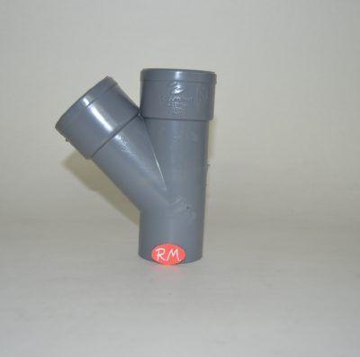 Te 45° PVC Ø50 mm M H H