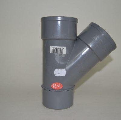 Te 45° PVC Ø75 mm M H H