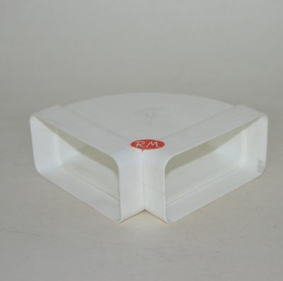 Tub pla codo rectangular horizontal 90° 55 x 110 mm