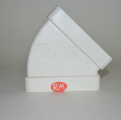 Tub pla codo rectangular horizontal 45° 55 x 110 mm