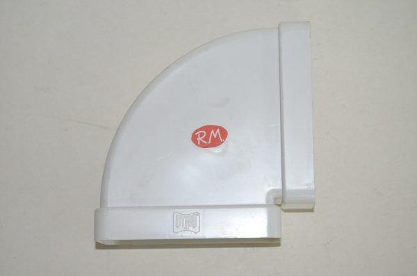Tub pla codo rectangular horizontal 90° 60 x 120 mm