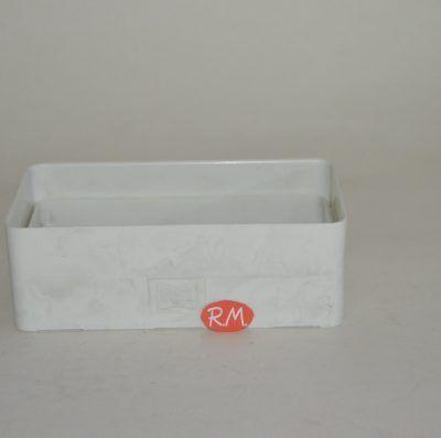 Tub pla empalme rectangular plano 75 x 150 mm