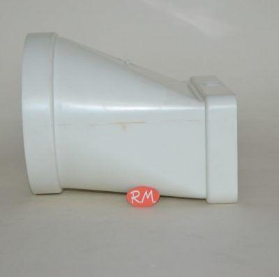 Tub pla empalme mixto recto Ø120 mm a 75 x 150 mm
