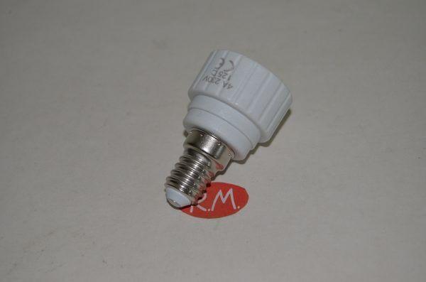Adaptador casquillo E14 a GU10