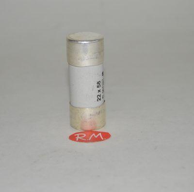 Fusible cilíndrico cerámico 80A 22 x 58 mm