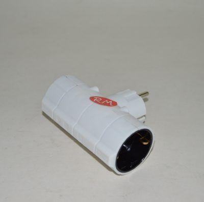 Adaptador ladrón doble schuko con TTL 3500 W