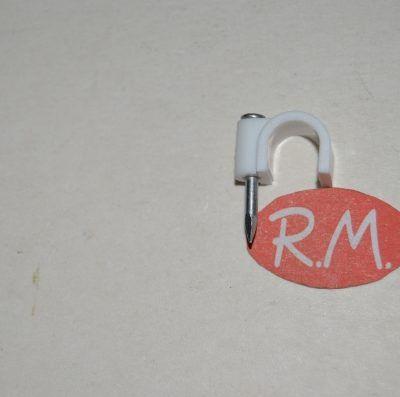 Grapa nº 8 con clavo para cable manguera redondo
