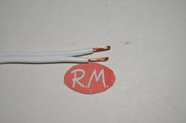 Cable paralelo audio 2 x 1.5 mm blanco