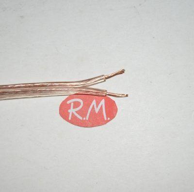 Cable paralelo audio 2 x 0.75 mm transparente