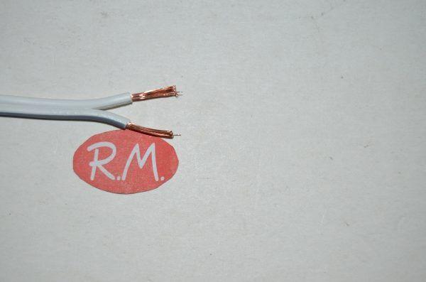 Cable paralelo audio 2 x 1 mm gris - blanco