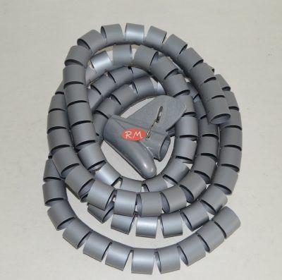 Organizador de cables gris 25 mm 1.8 metros