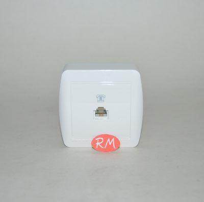 Toma de teléfono RJ11 superficie blanco Solera MUR84U