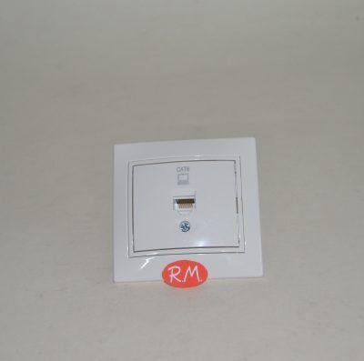 Toma de datos RJ45 empotrar blanco Solera ERP88U