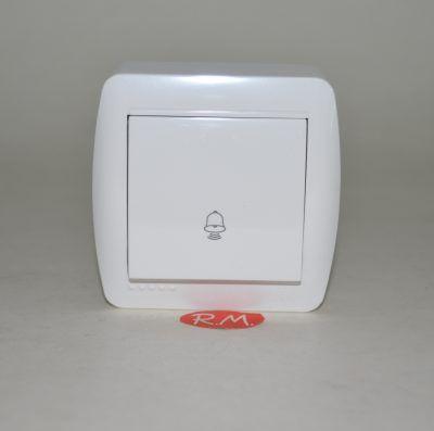 Pulsador timbre superfície blanco Solera MUR03U