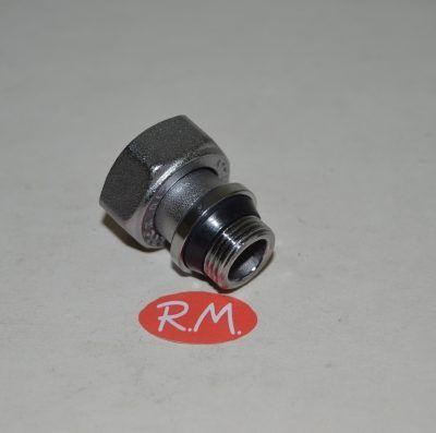 """Enlace cromado radiador M 3/8"""" H 1/2"""" recto"""