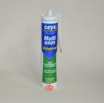 Ceys silicona ácida universal gris 280ml 506250
