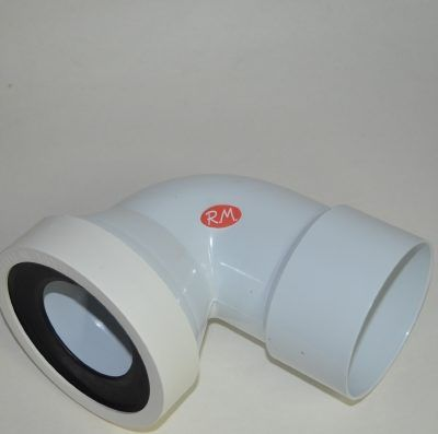 Manguito WC curvo hembra 80 a 100 mm